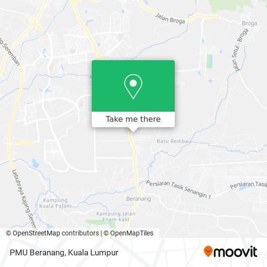 PMU Beranang map