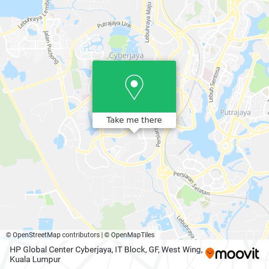 HP Global Center Cyberjaya, IT Block, GF, West Wing map