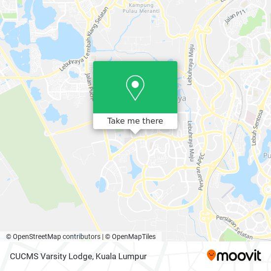 CUCMS Varsity Lodge map