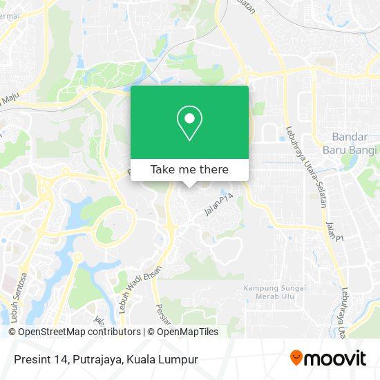 Presint 14, Putrajaya map