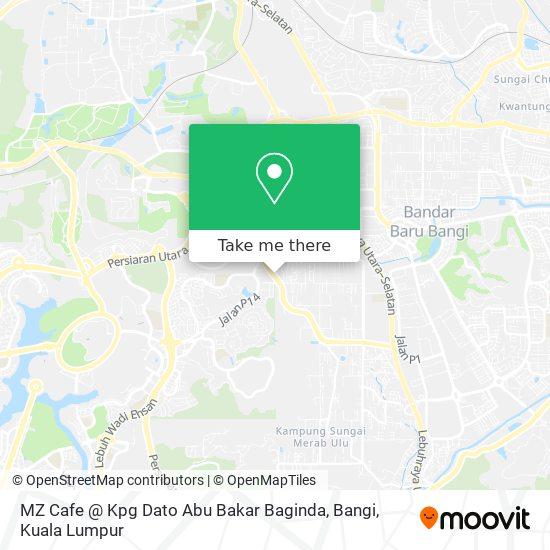 MZ Cafe @ Kpg Dato Abu Bakar Baginda, Bangi map