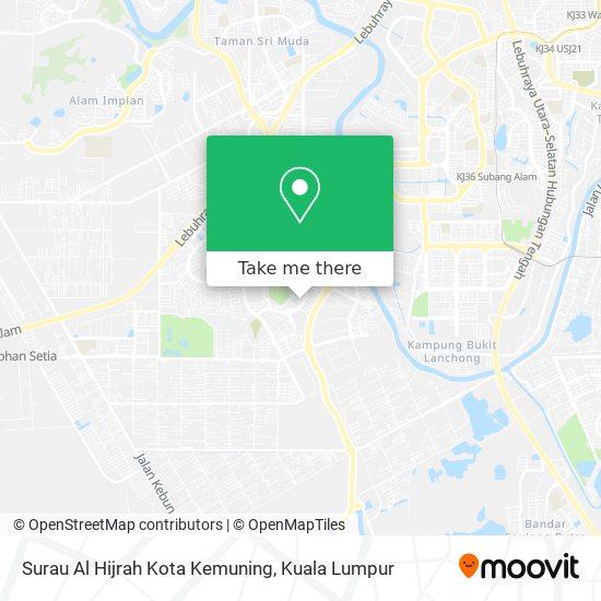 Surau Al Hijrah Kota Kemuning map