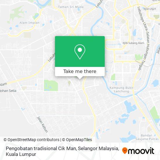 Pengobatan tradisional Cik Man, Selangor Malaysia map