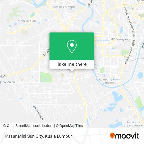 Pasar Mini Sun City map