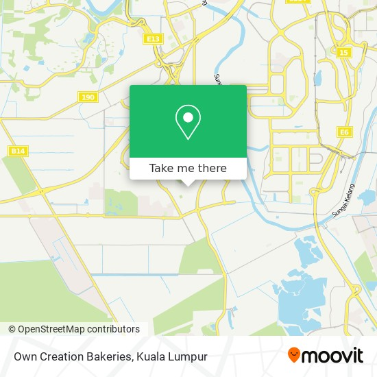 Own Creation Bakeries map