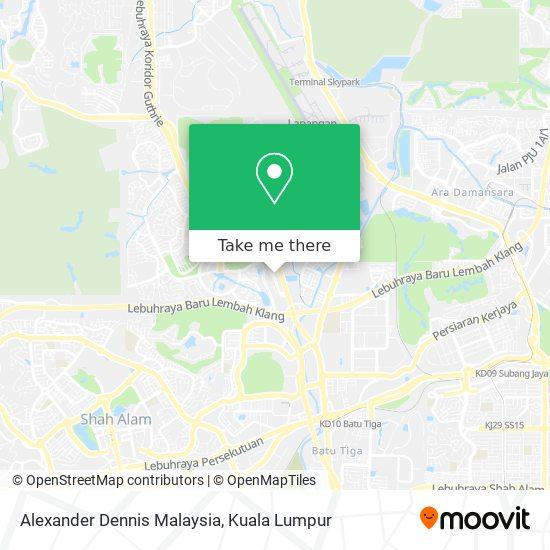 Alexander Dennis Malaysia map