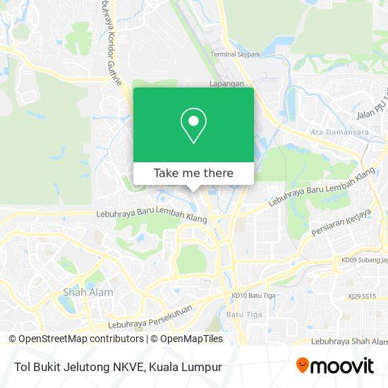 Tol Bukit Jelutong NKVE map