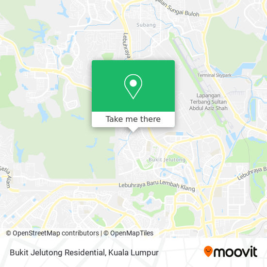Bukit Jelutong Residential map