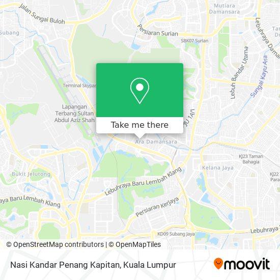Nasi Kandar Penang Kapitan map