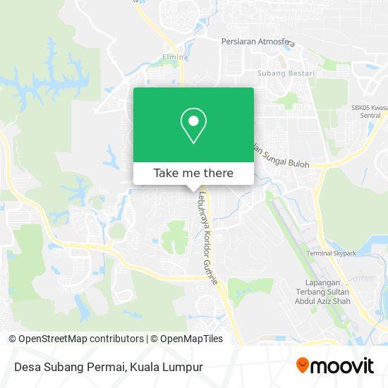 Peta Desa Subang Permai
