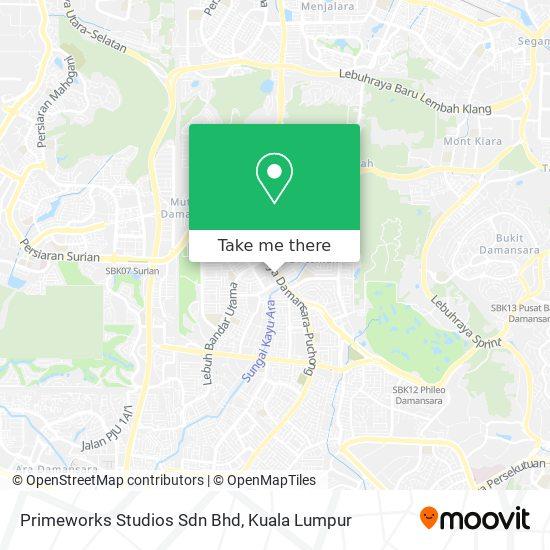 Primeworks Studios Sdn Bhd地图