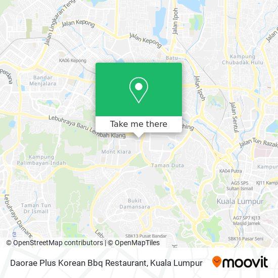 Daorae Plus Korean Bbq Restaurant map