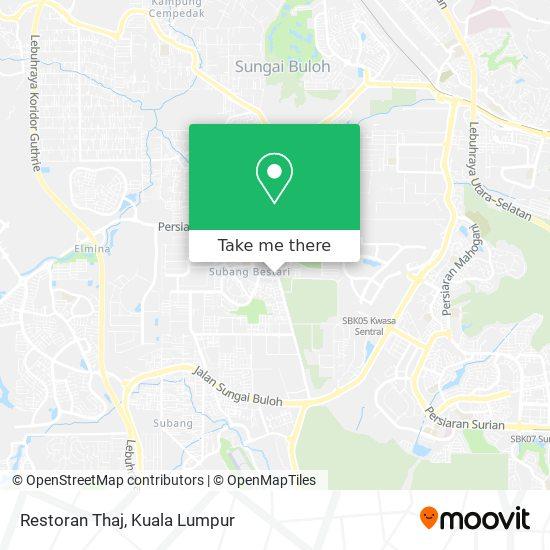 Restoran Thaj map