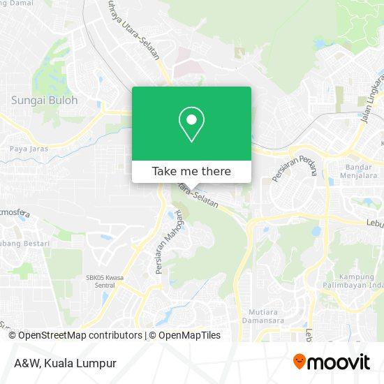 A&W地图