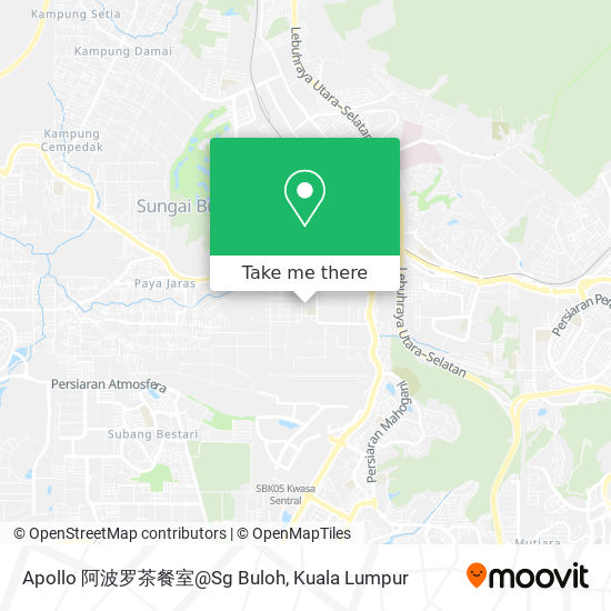 Apollo 阿波罗茶餐室@Sg Buloh map