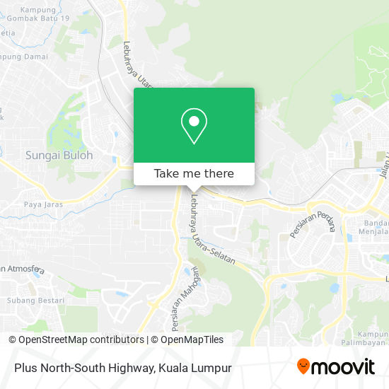Plus North-South Highway map