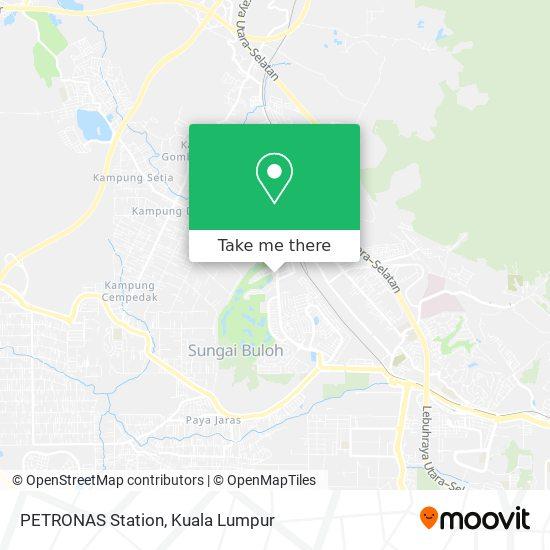 Peta PETRONAS Station