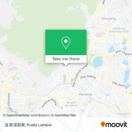 蓝屋顶面家 map