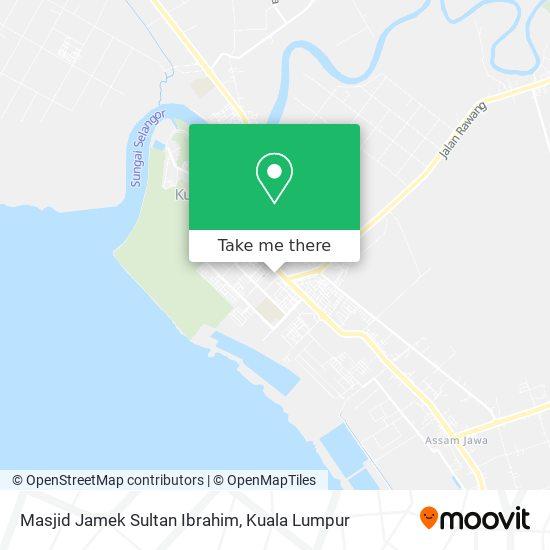 Peta Masjid Jamek Sultan Ibrahim