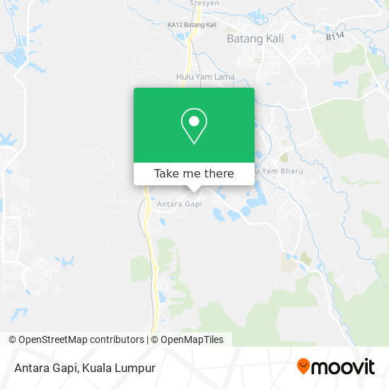 Antara Gapi map