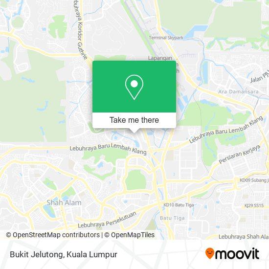 Bukit Jelutong map