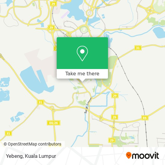 Yebeng map