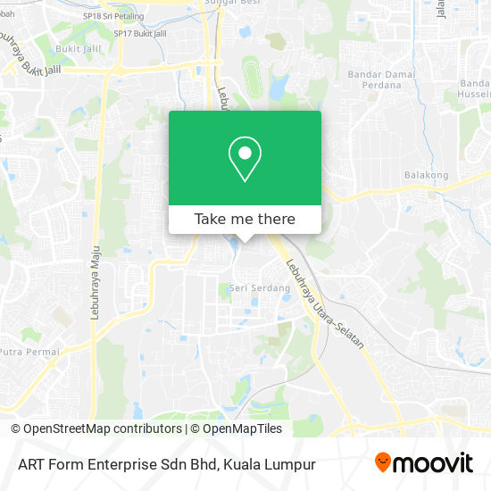 art form enterprise sdn bhd How to get to ART Form Enterprise Sdn Bhd in Seri Kembangan by Bus