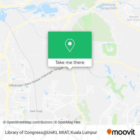 Library of Congress@UniKL MIAT map