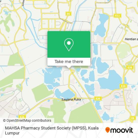 MAHSA Pharmacy Student Society (MPSS) map