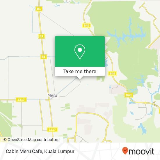 Cabin Meru Cafe map