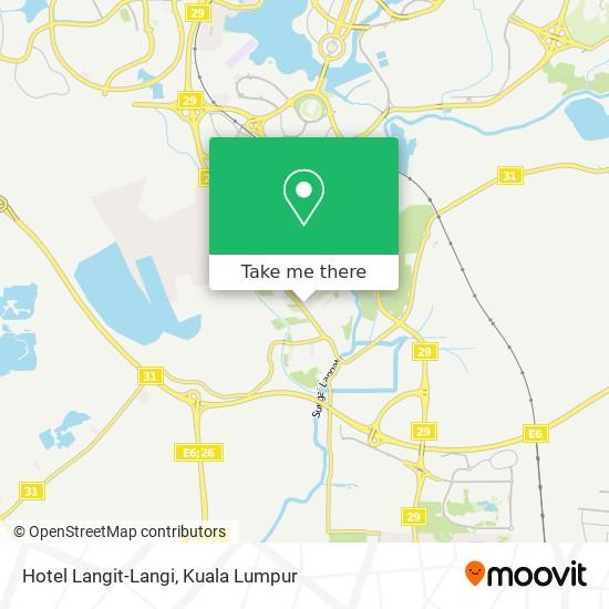 Hotel Langit-Langi map