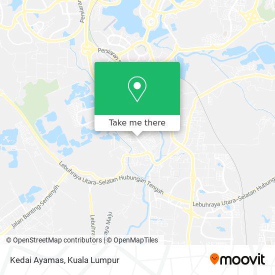 Kedai Ayamas map