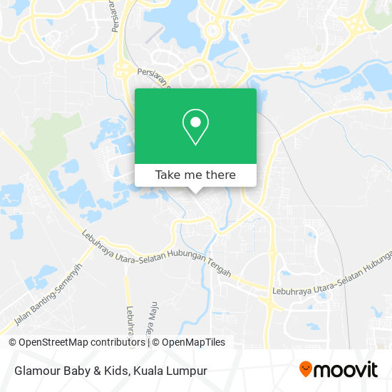 Glamour Baby & Kids map