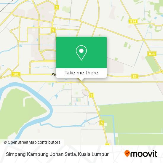 Simpang Kampung Johan Setia map