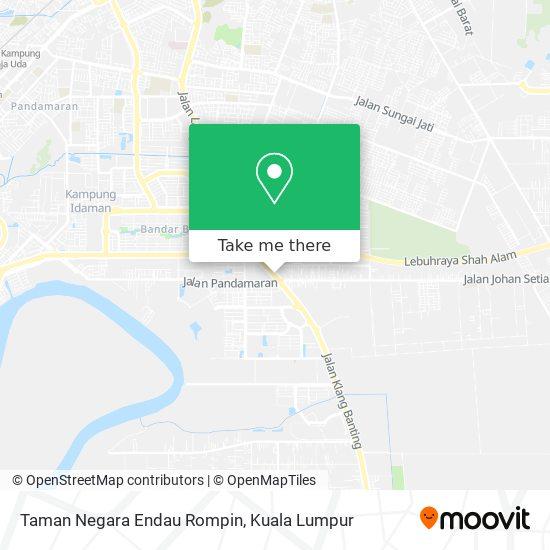 Taman Negara Endau Rompin map