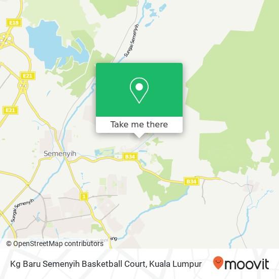 Kg Baru Semenyih Basketball Court map