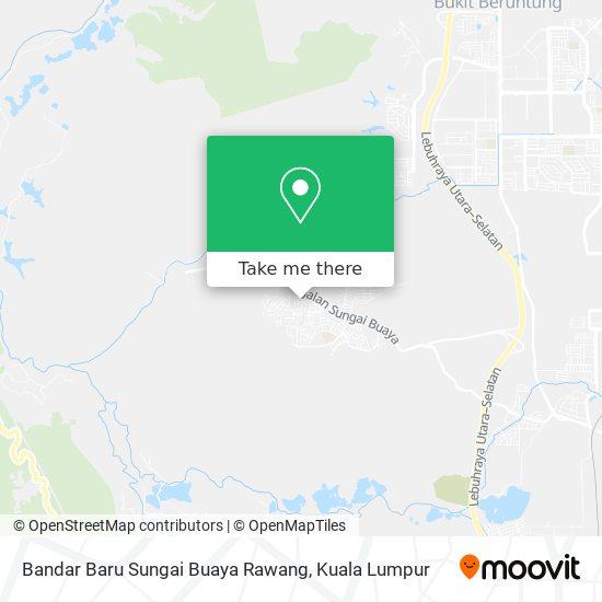 Peta Bandar Baru Sungai Buaya Rawang