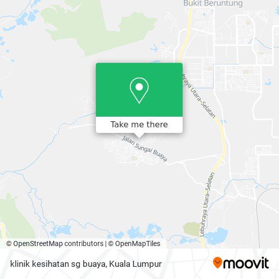 Peta klinik kesihatan sg buaya