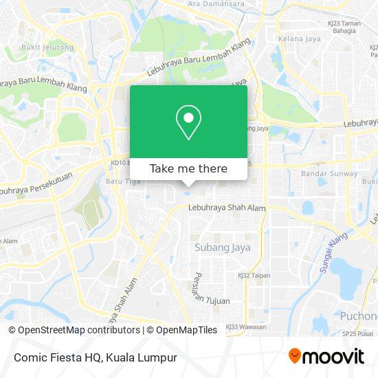 Comic Fiesta HQ map