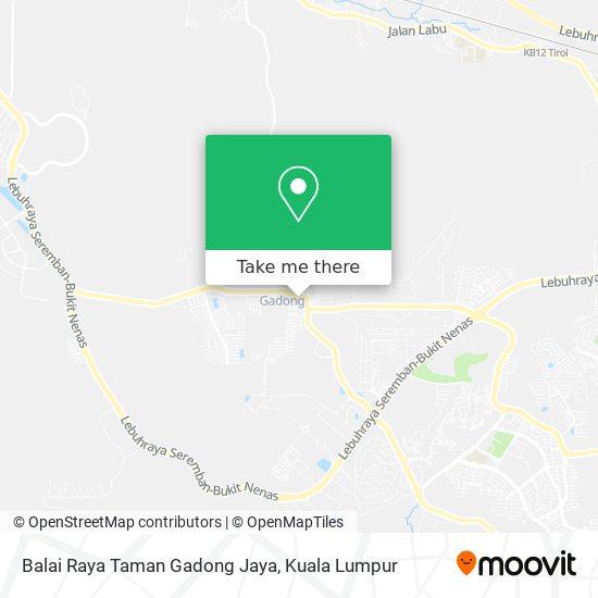 Balai Raya Taman Gadong Jaya map