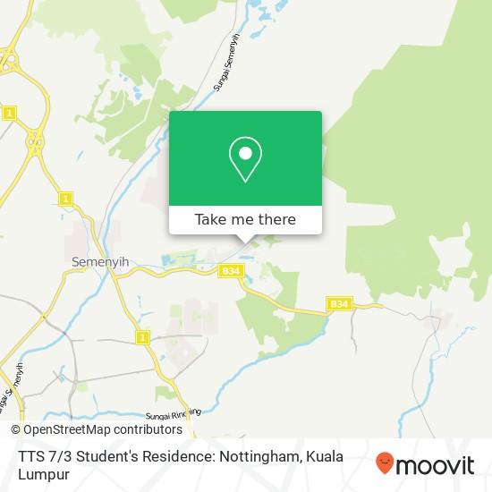 TTS 7 / 3 Student's Residence: Nottingham map