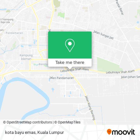 kota bayu emas map