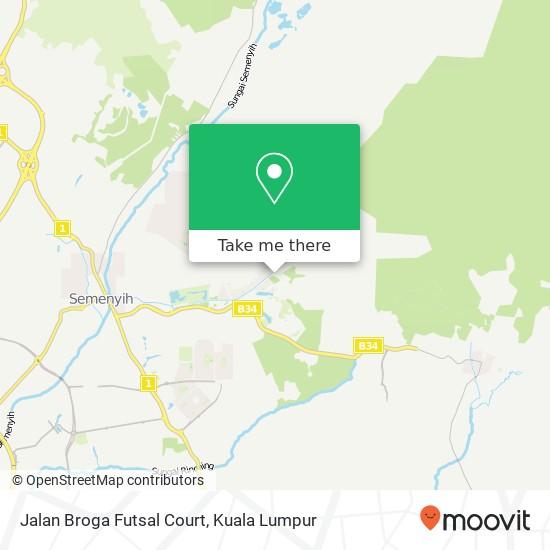 Jalan Broga Futsal Court map