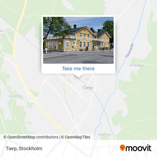 Tierp map