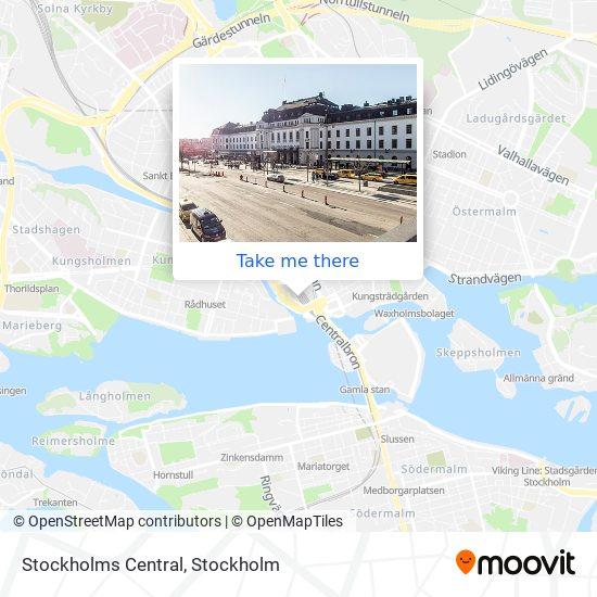 Stockholm Central map