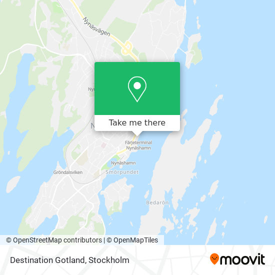 Destination Gotland map