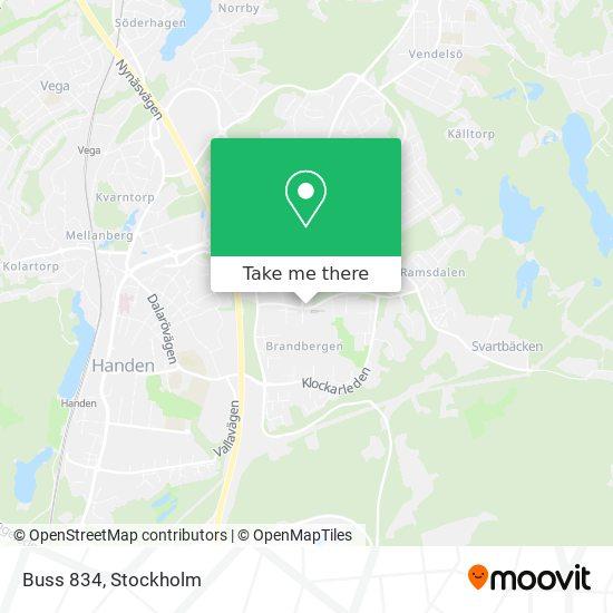 Buss 834 map