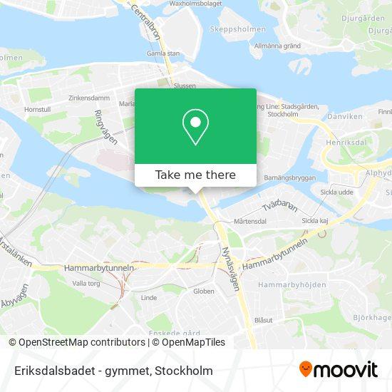 Eriksdalsbadet - gymmet map