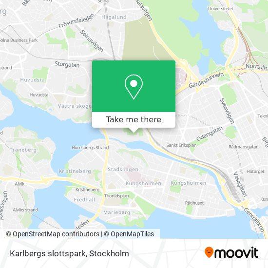 Karlbergs slottspark map