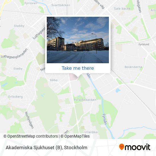 Akademiska Sjukhuset (B) map